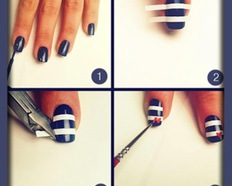 Накрасить ногти в домашних условиях фото поэтапно