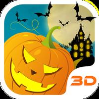 Icono de Calabaza de Halloween 3D Tema