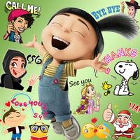 Emoji HD Talking Stickers apk icon