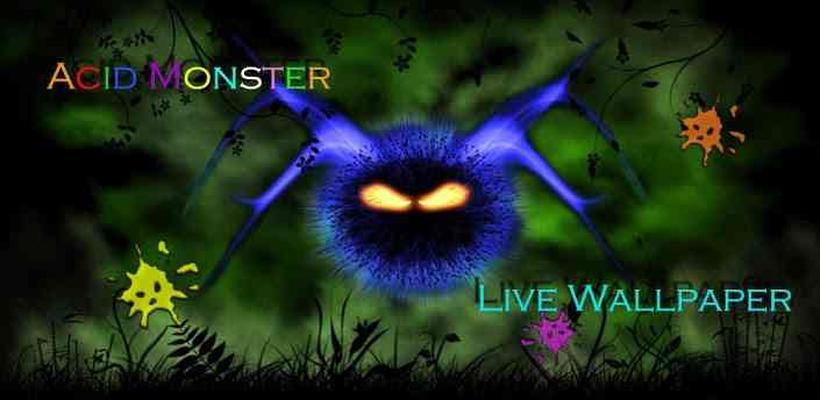 Neon Acid Monster Wallpaper Image