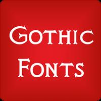 Ícone do Gothic para FlipFont® livre