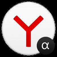 Yandex Browser Alpha Simgesi
