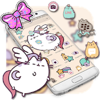 Cute Kitty Bowknot Theme apk icon
