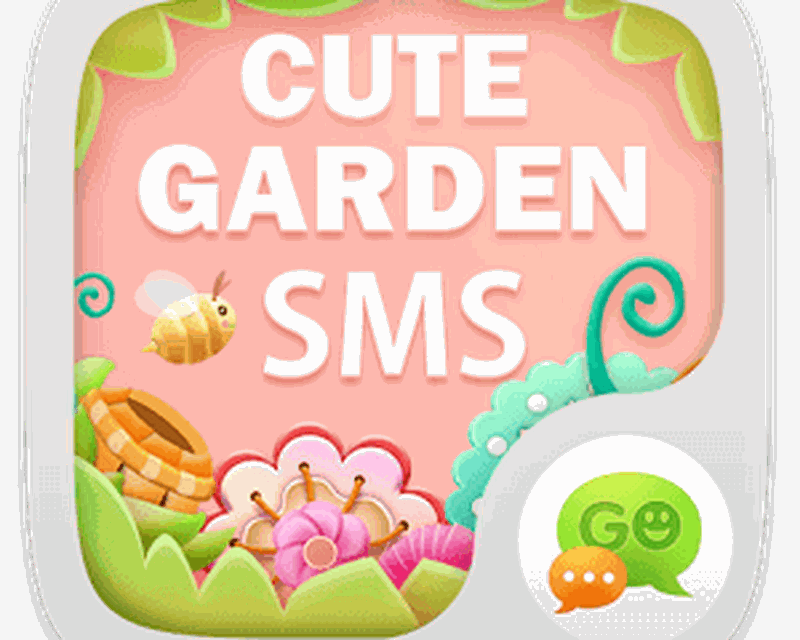 go sms z cute garden theme ex android free download go sms z cute