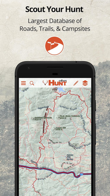 OnX HUNT Maps Hunting GPS Offline US Topo Maps Android Free - Onx map app