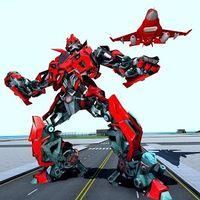 Ícone do Ar Robô Jogos - Vôo Robô Transformando Avião