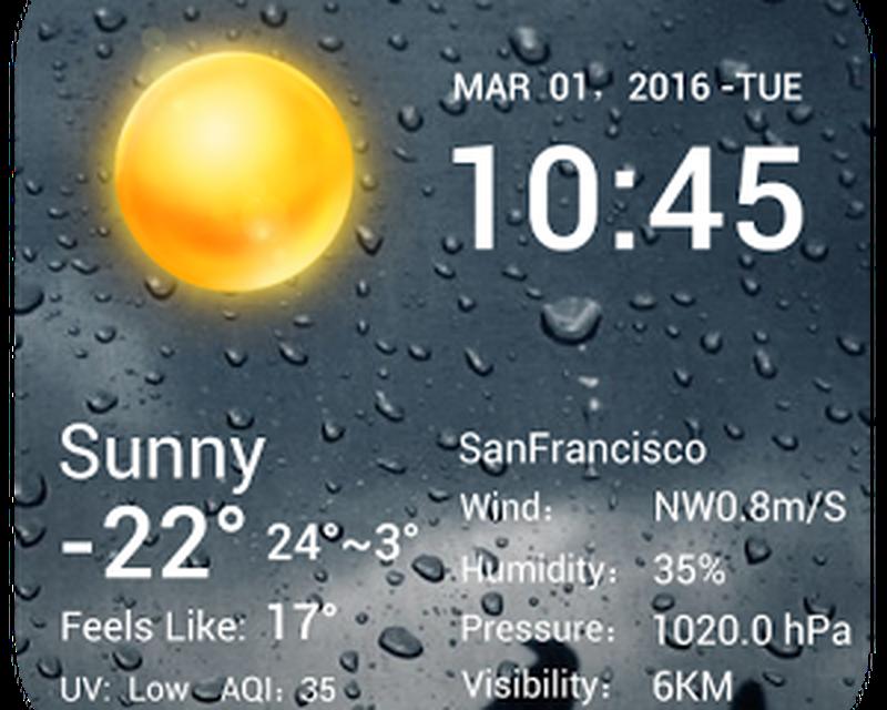 Desktop Weather Clock Widget Android - Free Download Desktop