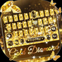 Gold Diamond Keyboard Theme 7.0