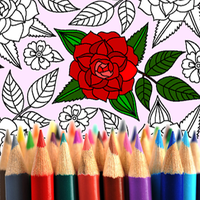 Ícone do Colorir adultos: Flores