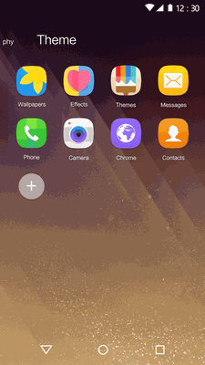 Download New 2018 Launcher - Golden Theme for Galaxy S8 1 0
