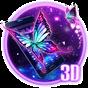 Tema da borboleta roxa 3D 1.1.2