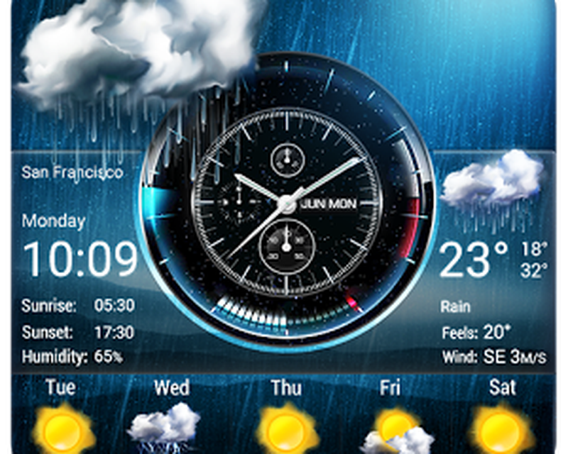 Weather Widget on Home Screen Android - Free Download