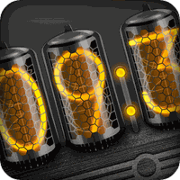 Dark Nixie Clock apk icon