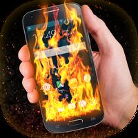 Icono de Efecto Fuego Pantalla Teléfono