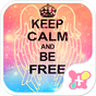 KEEP CALM AND BE FREE-無料着せ替え 1.0.0