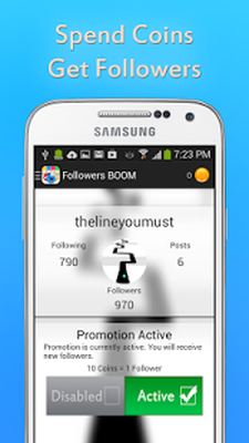 Download Get Followers BOOM v1 5 free APK Android