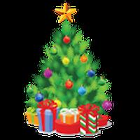 クリスマスツリーの飾り アイコン