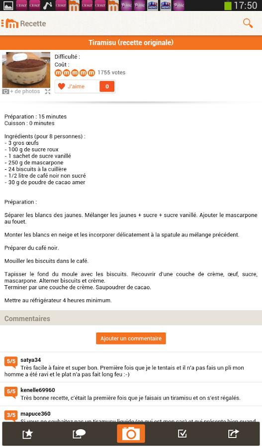 Marmiton Recettes De Cuisine Android Telecharger Marmiton
