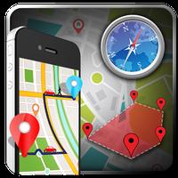 Ícone do Mapas ao vivo, navegação GPS e bússola