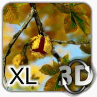 Ikon Autumn Leaves in HD Gyro 3D XL  Parallax Wallpaper
