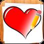 Como Desenhar Corações do Amor  APK