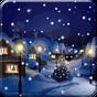 Снег Ночной город живые обои