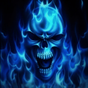 Blue Skull Live Wallpaper 4.0