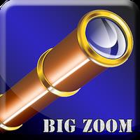 Ícone do telescópio grande zoom