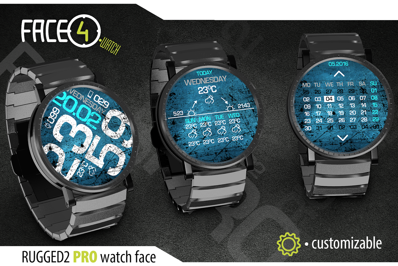 RUGGED2 PRO Watch Face Android - Télécharger RUGGED2 PRO Watch Face