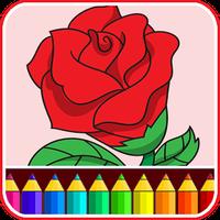Valentines love coloring book icon