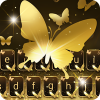 Gold Butterfly Shining Keyboard Theme icon