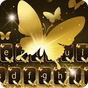 Gold Butterfly Shining Keyboard Theme 1.1.3