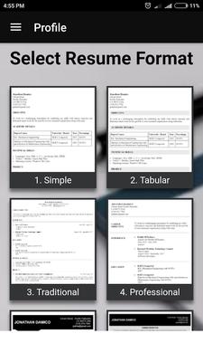 Free Resume Builder Pdf Formats Cv Maker Templates Android Free