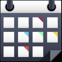 Иконка календарь со цветами