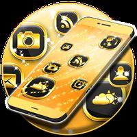 Ícone do Neon Tema Ouro GO Launcher
