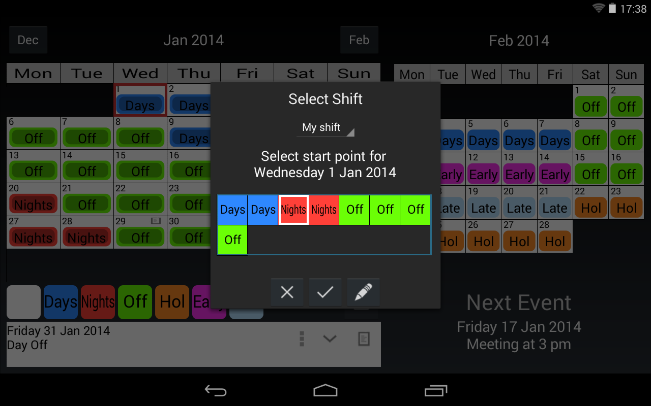 Calendrier De Travail.Maj Calendrier De Travail Android Telecharger Maj