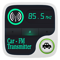 Fm Transmitter - Phone To Car white Radio Fm apk icon