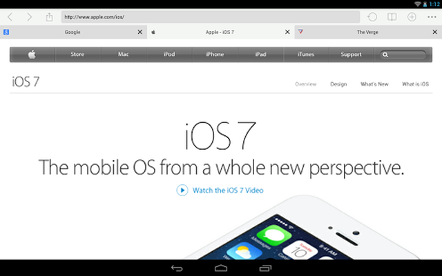 Download iOS 7 Browser 1 7 free APK Android
