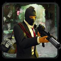 Ícone do assalto a banco palhaço assustador Gangster Squad