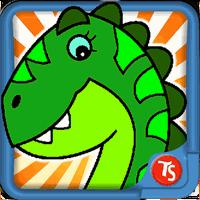 Icône de Dinosaures jeu de couleur