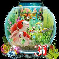 Ícone do Tema de peixes 3D Aquarium Koi