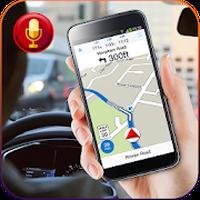 Ícone do apk gps mapas navegação e direção com voz
