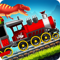 Dinosaur Park Train Race apk icono