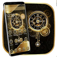 Clock Luxury Gold Theme icon