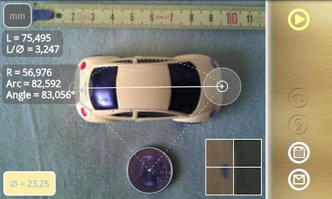 Diskometer - camera measure Android - Free Download