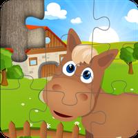 Ícone do Quebra-cabeça crianças fazenda
