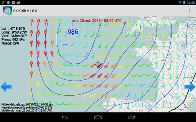 Marine Weather | SailGrib Android - Free Download Marine Weather