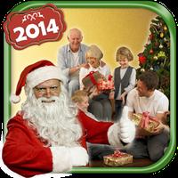 산타와 사진 아이콘