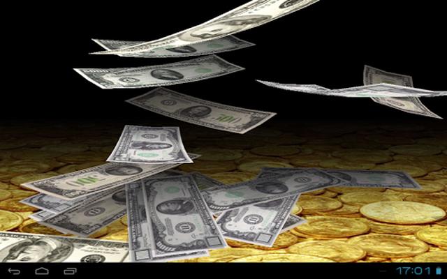 Falling Money 3D Live Wallpaper Pro Image