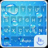 Blue Water Drop Keyboard Theme apk icon